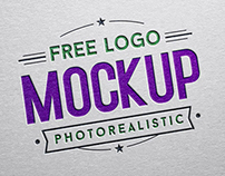 Free Debossed Color Logo Mockup PSD