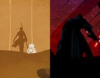 Star Wars Posters - Rey and Kylo Ren