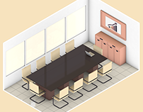 Meeting Room (Low poly)