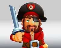 Vector Illustration - Cute Pirate Theme