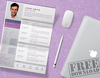 Download Cv/Resume Template and Free Mock-up Psd