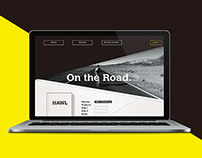 "Website designed for Beat Generation ""On the Road"""