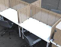 Sistema de escritorios modulares M.V.