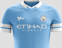 2016 Manchester City Kit Concepts by Metcalfe