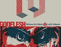 Godflesh - Gig Poster, 2015