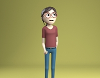 June - Animated Character