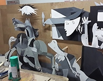 pablo picasso guarnica 3d work