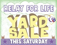 Relay for Life Yard Sale Flyer