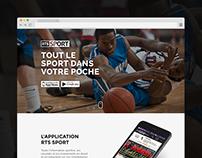 WEB DESIGN & FRONTEND // RTS App landing page