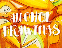 Alcohol drawings