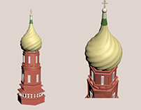 St Basil's Cathedral Tower 3D Model