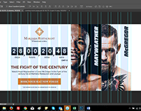 Landing page for the fight of the century