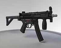 HK MP5K Gun Model