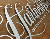 Hartnekskloof guest lodge logotype lettering
