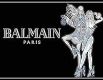 Fashion Illustration Ad: Balmain Couture