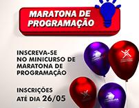 Cartaz do minicurso de maratona de programação