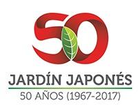 Logo 50 años del Jardín Japonés