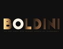 Boldini. SVG font family