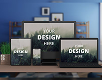 Multi Devices Mockup Free Download