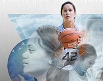 Nga Hau E Wha basketball team montage and article.