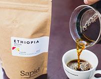 Sapid Coffee Roasting co. branding