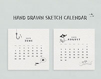 Hand drawn sketch 2015 calendar