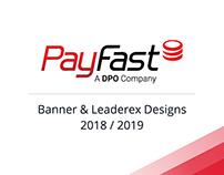 PayFast: Banner & Leaderex Designs 2018 / 2018