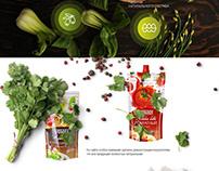 Дизайн сайта для натуральных продуктов