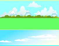 2D vector Game background