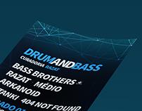 Drum And Bass Curadoria Razat - Flyer