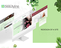 UI/UX website cosmetology salon - BEAUTYLINE