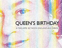 Queen's Birthday - Infográfico animado para o BCCCSP