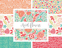 Acid flowers collection - Surface Design.