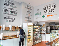 Blazing Salads Interior and Packaging