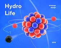 Onepage design for Hydrolife