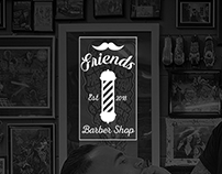 Friends-Barbershop Logo design