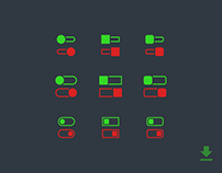 Daily UI No. 15 | On/Off Switch Freebies