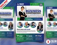Business Conference Flyer Design PSD