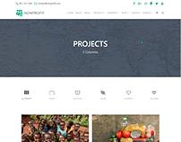Projects 2 Columns Page - Nonprofit WordPress Theme