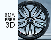 BMW Vision Rim and Pirelli Tire | Free 3d