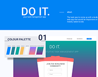DO IT is a responsive to-do web app
