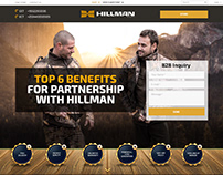 Landing Page Redesign for Hillman Hunting