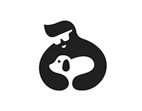 Dog care Logo Mark.