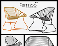 Fermob Outdoor Furniture Sixties Rattan Chair 3D Model