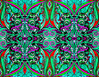 'Fiesta' Textile Design Colour Variations