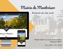 Mairie de Montrésor - refonte de site web