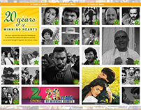 Microsite for 20 years of Zee Cinema