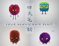 Four heavy hair beast