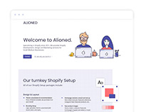 Alioned Agency - Shopify Setup Page Design