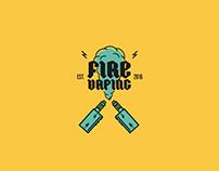 Fire Vaping. Logo.